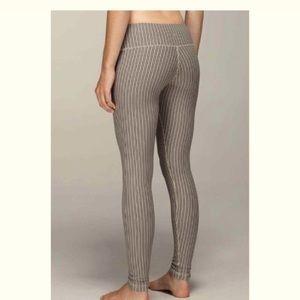 Lululemon wunder under striped leggings